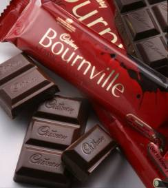 bournville with choc