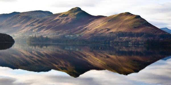 Catbells reflected in Derwent Water