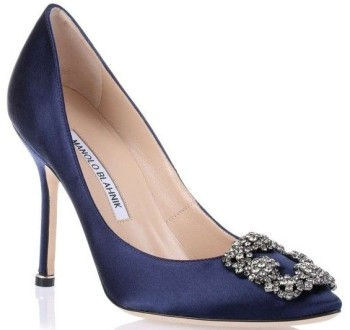 navy stilleto
