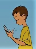 Soccer kids texting