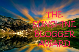 SUNSHINE BLOGGER AWARD 1