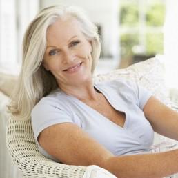 Senior Woman Sitting Outside