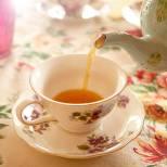 floral printed tea party