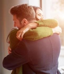 him hug